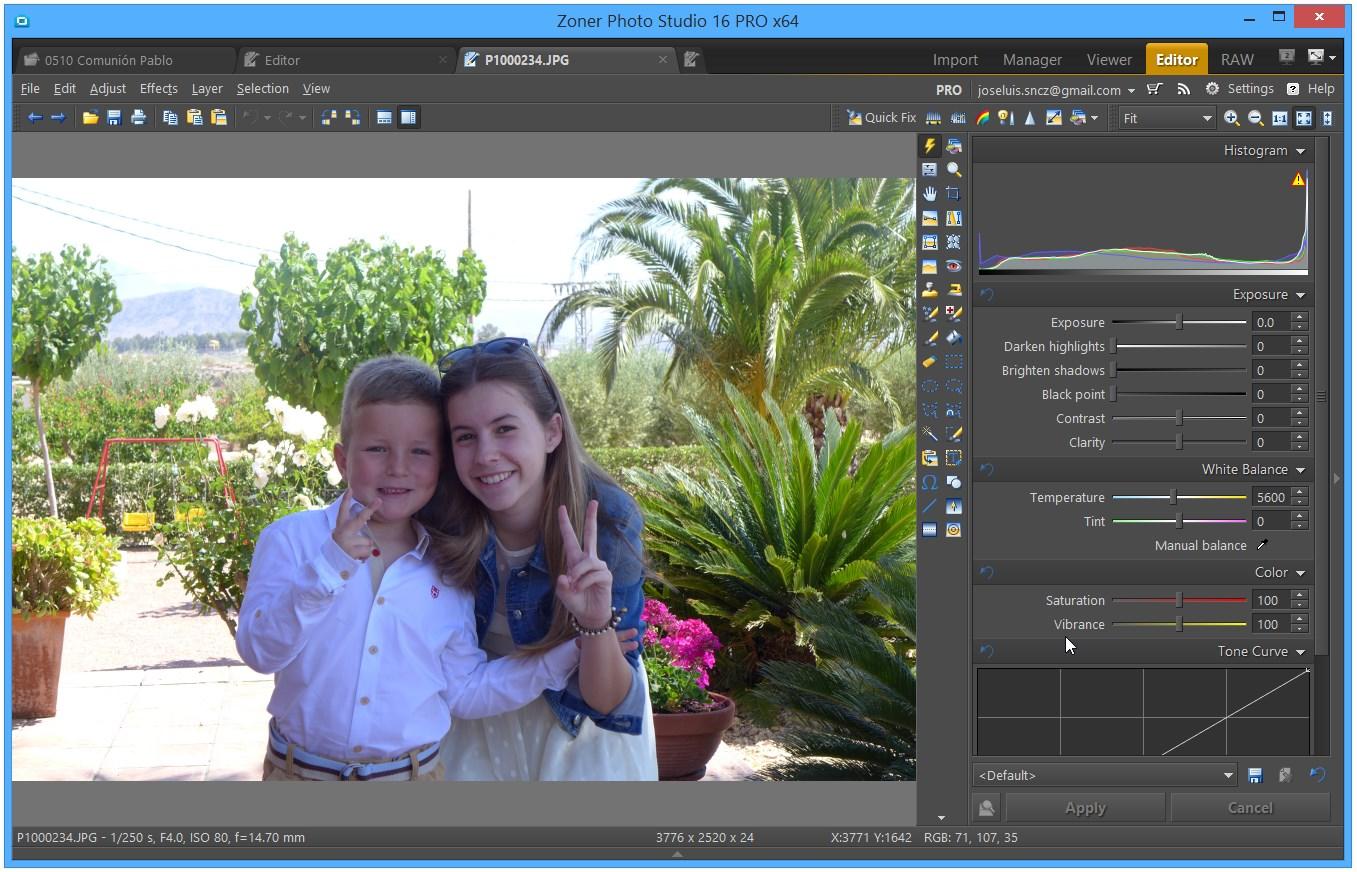 Zoner Photo Studio 16 - Módulo Editor