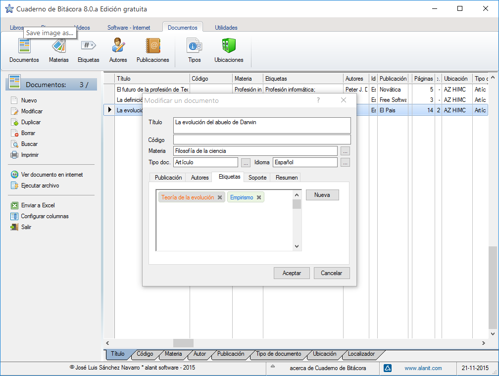 Cuadern de Bitácora 8.0 - edición de documentos