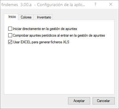 Findemes 3.0: configuración de la exportación a Excel.